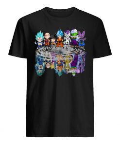 Dragon ball characters water mirror mens shirt