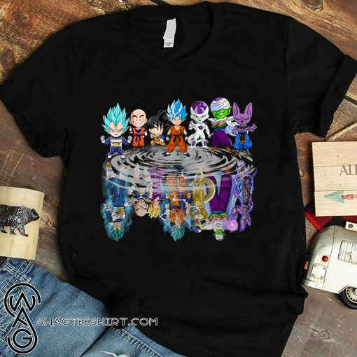 Dragon ball characters water mirror shirt