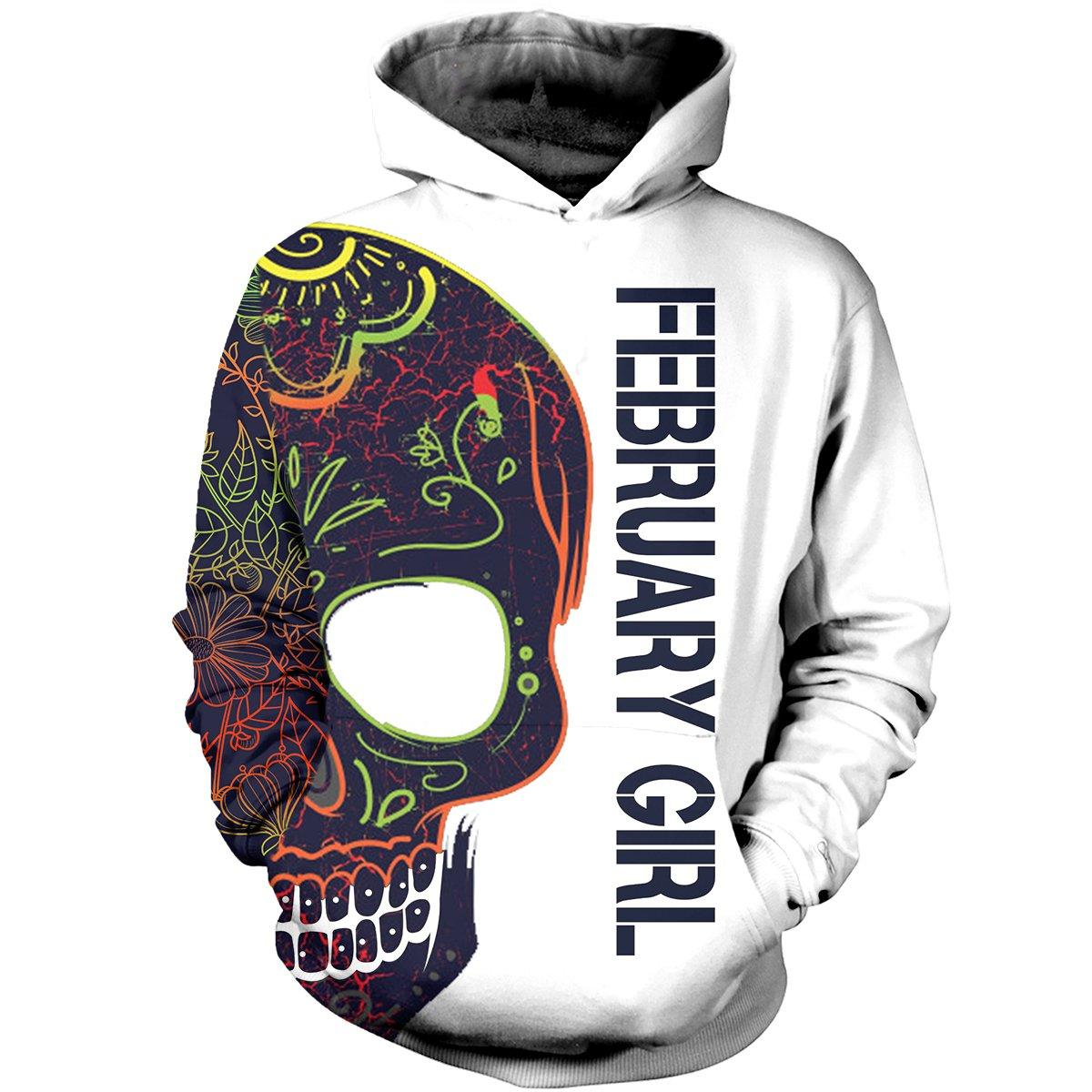 February girl with tatoos pretty eyes and thick thighs 3d hoodie - original