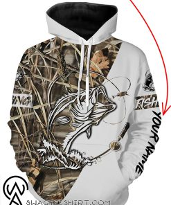 Fishing tattoo personalized all over print hoodie