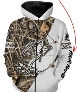 Fishing tattoo personalized all over print zip hoodie