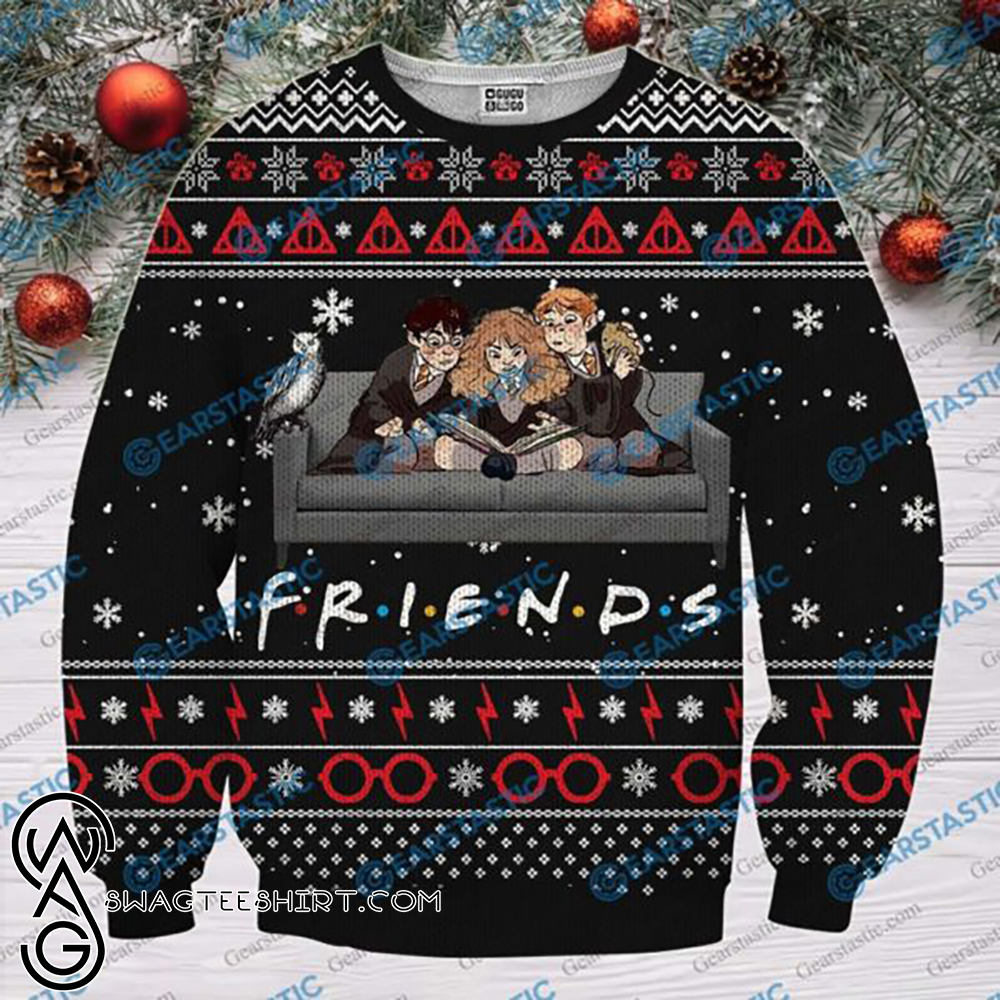 Friends tv show harry potter ugly christmas sweater
