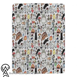 Ghibli movies premium blanket