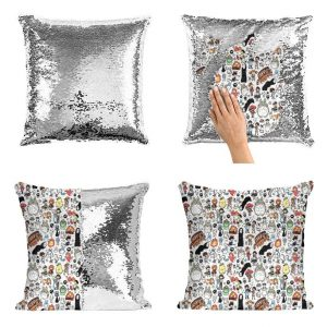 Ghibli movies premium blanket - Mermaid Sequin Pillow Case