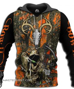 Grim reaper bow hunter camo 3d all over printed shirt