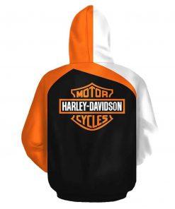 Harley-davidson motorcycle biker all over print hoodie - back