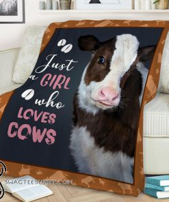 Heifer just girl who loves cows blanket