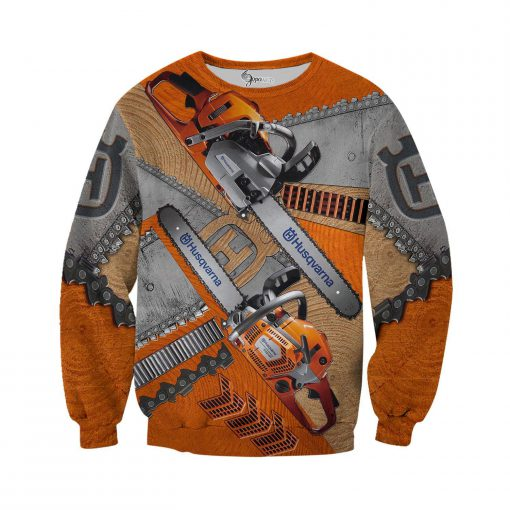 Husqvarna chainsaw 3d all over printed long-sleeved shirt