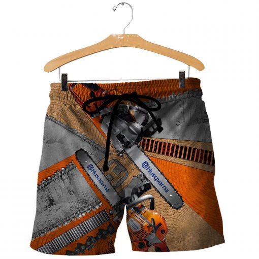 Husqvarna chainsaw 3d all over printed shorts