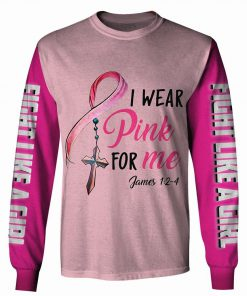 I wear pink for me breast cancer awareness 3d longsleeve shirt