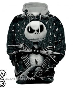 Jack skellington 3d all over printed hoodie