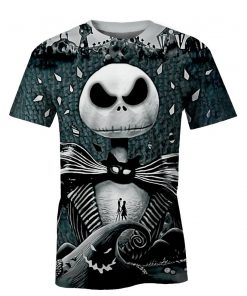 Jack skellington 3d all over printed tshirt