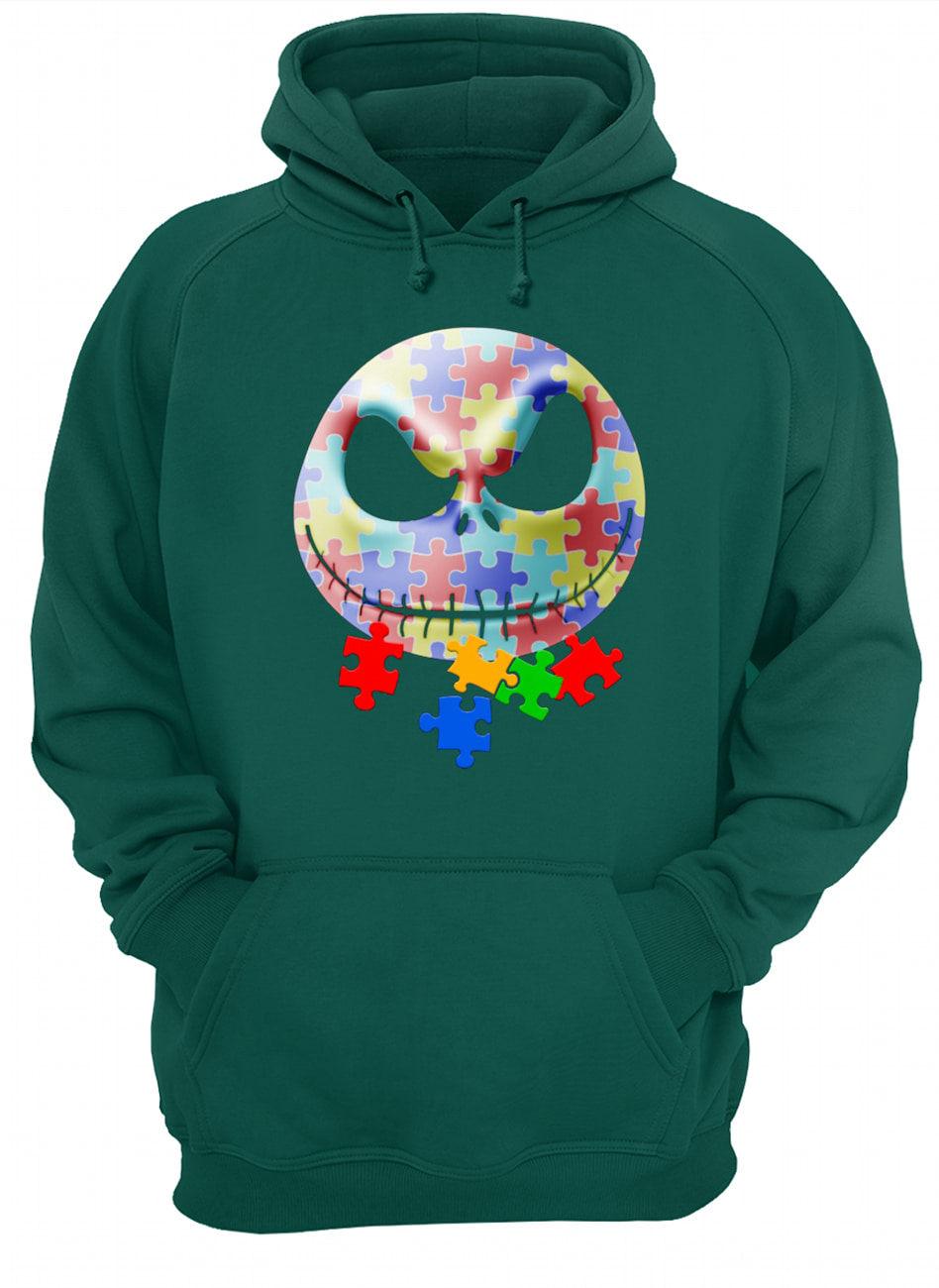 Jack skellington autism awareness hoodie