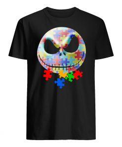 Jack skellington autism awareness mens shirt
