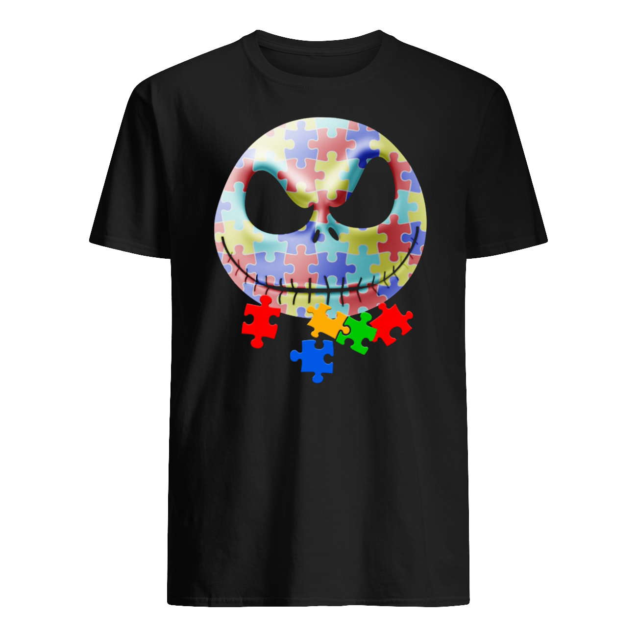 Jack skellington autism awareness mens shirt
