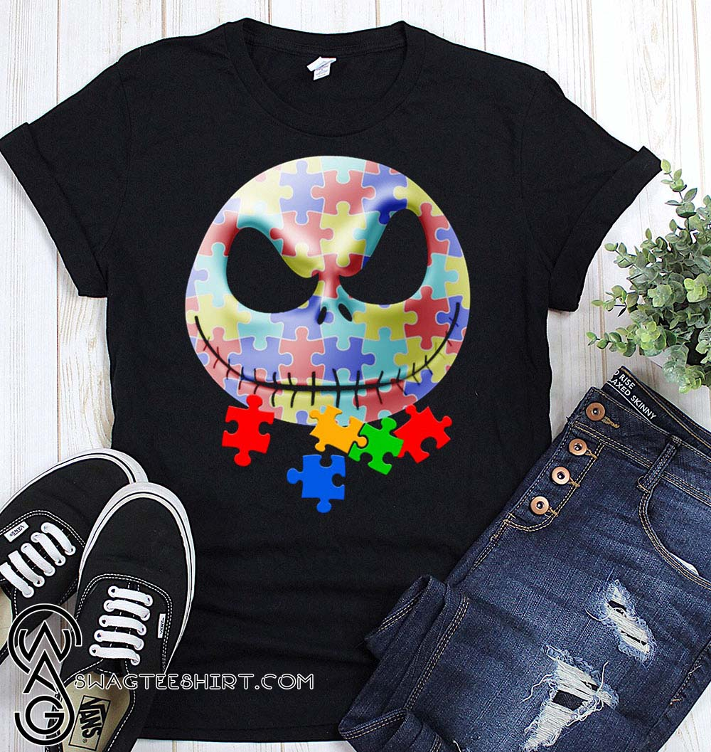 Jack skellington autism awareness shirt