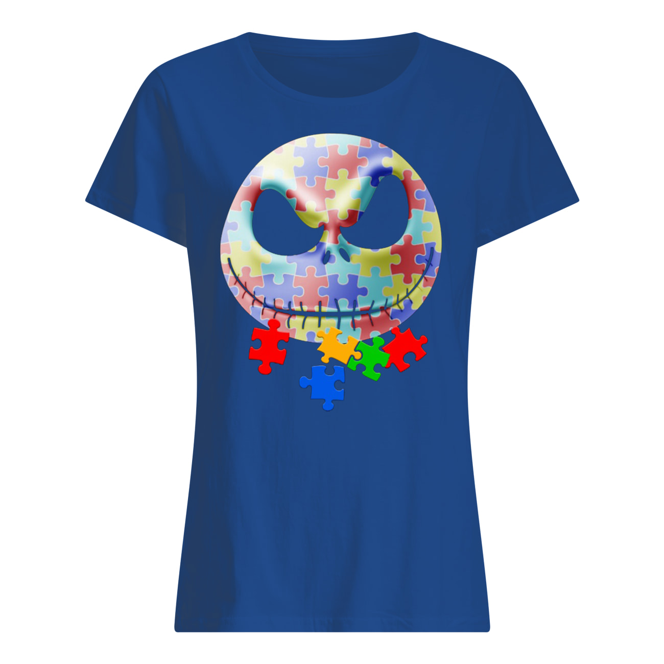 Jack skellington autism awareness womens shirt