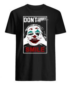 Joker don't forget to smile mens shirt