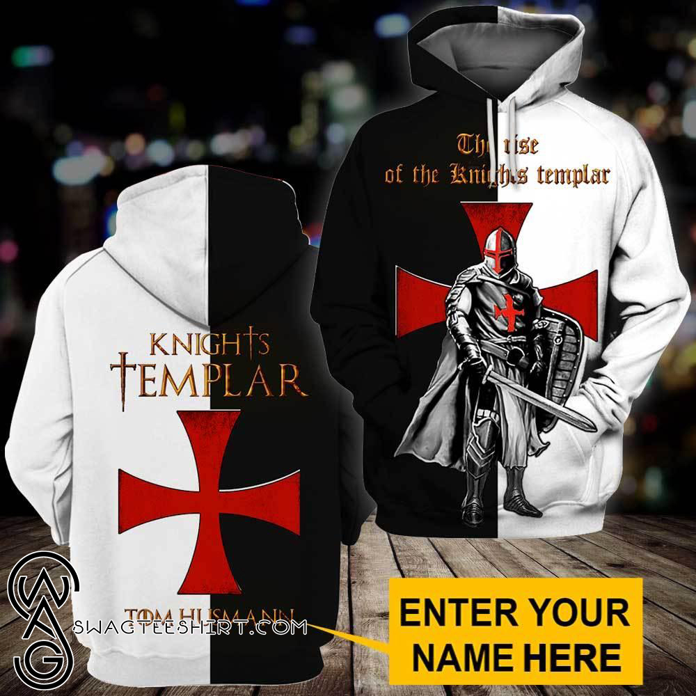 Knights templar the rise of the knight templar 3d full printing hoodie