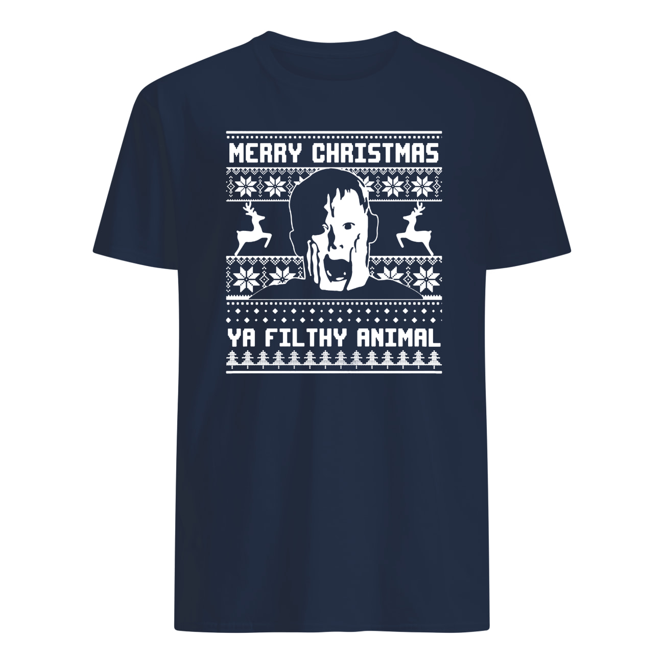 Merry christmas ya filthy animal home alone mens shirt