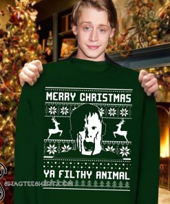 Merry christmas ya filthy animal home alone sweater