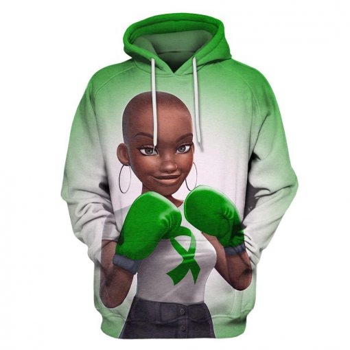Multi-color melanin warrior fight like a girl cancer awareness 3d hoodie - green