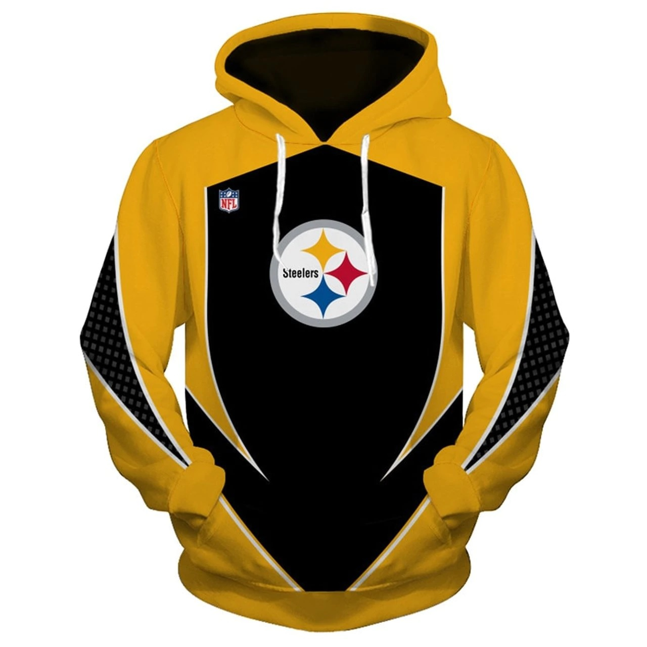 NFL pittsburgh steelers all over print hoodie - front