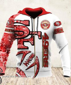 NFL san francisco 49ers all over printed hoodie