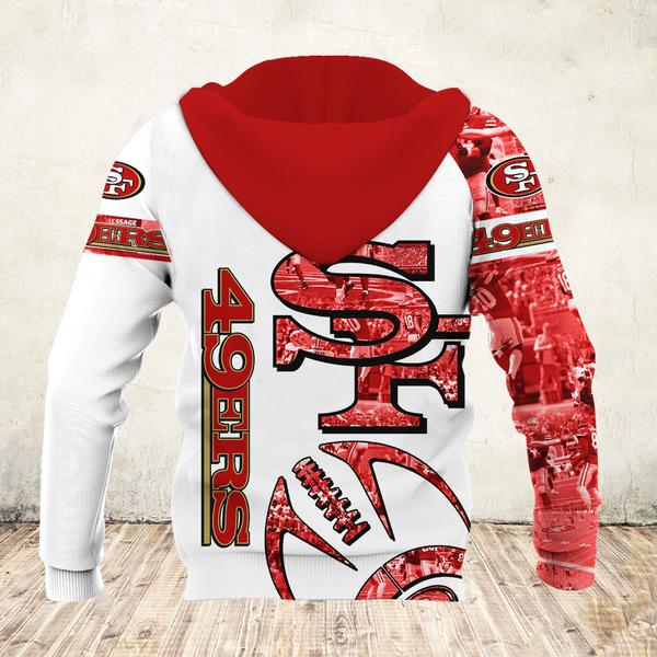NFL san francisco 49ers all over printed hoodie - back