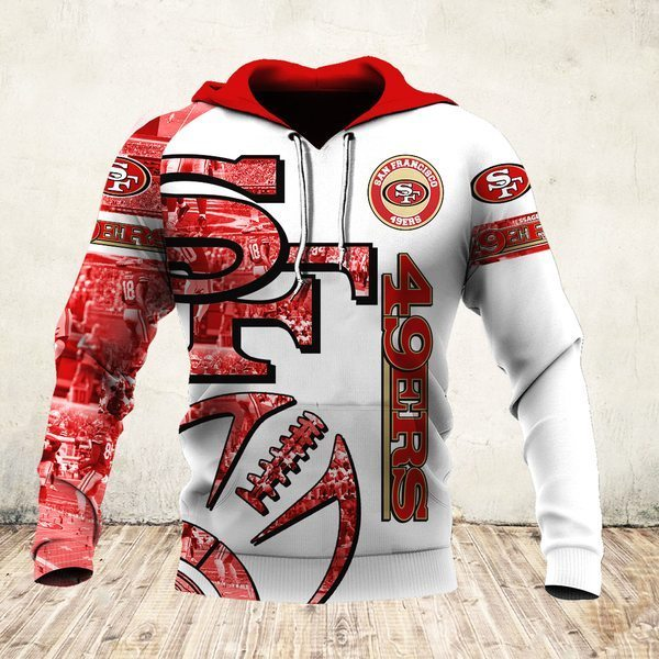 NFL san francisco 49ers all over printed hoodie - maria