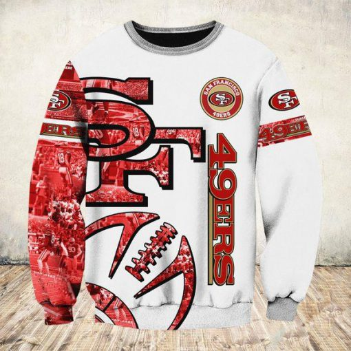 NFL san francisco 49ers all over printed sweatshirt