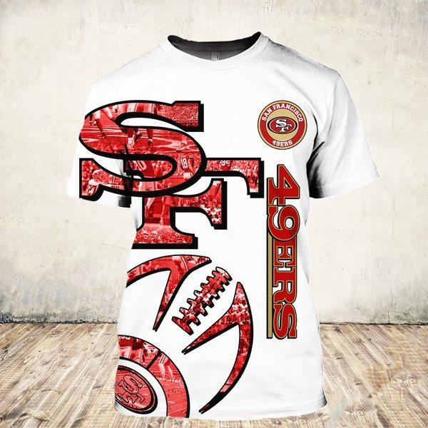NFL san francisco 49ers all over printed tshirt