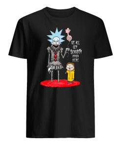 Pennywise it rick and morty we all get schwifty down here mens shirt