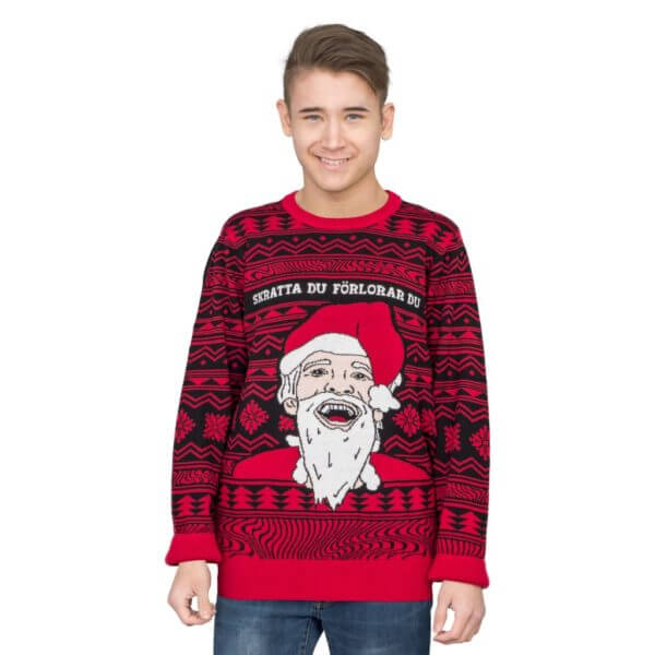 Pewdiepie ugly christmas sweater - front