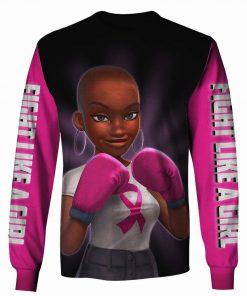Pink warrior breast cancer awareness 3d longsleeve shirt