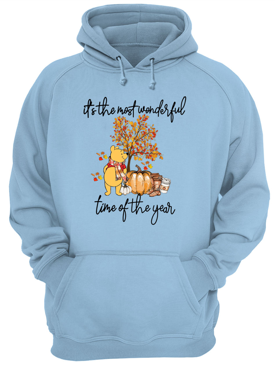 Pooh pumpkin it's the most wonderful time of the year hoodie