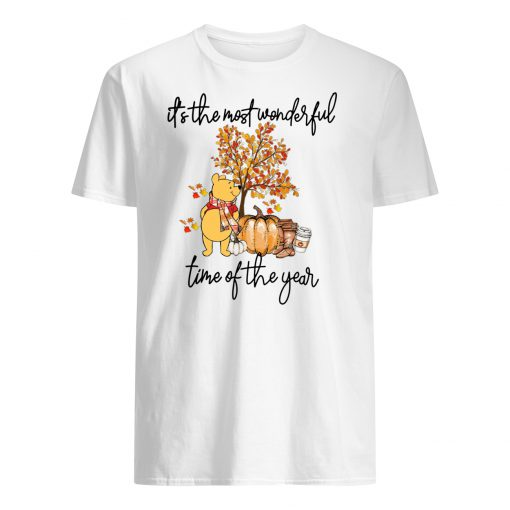 Pooh pumpkin it's the most wonderful time of the year mens shirt