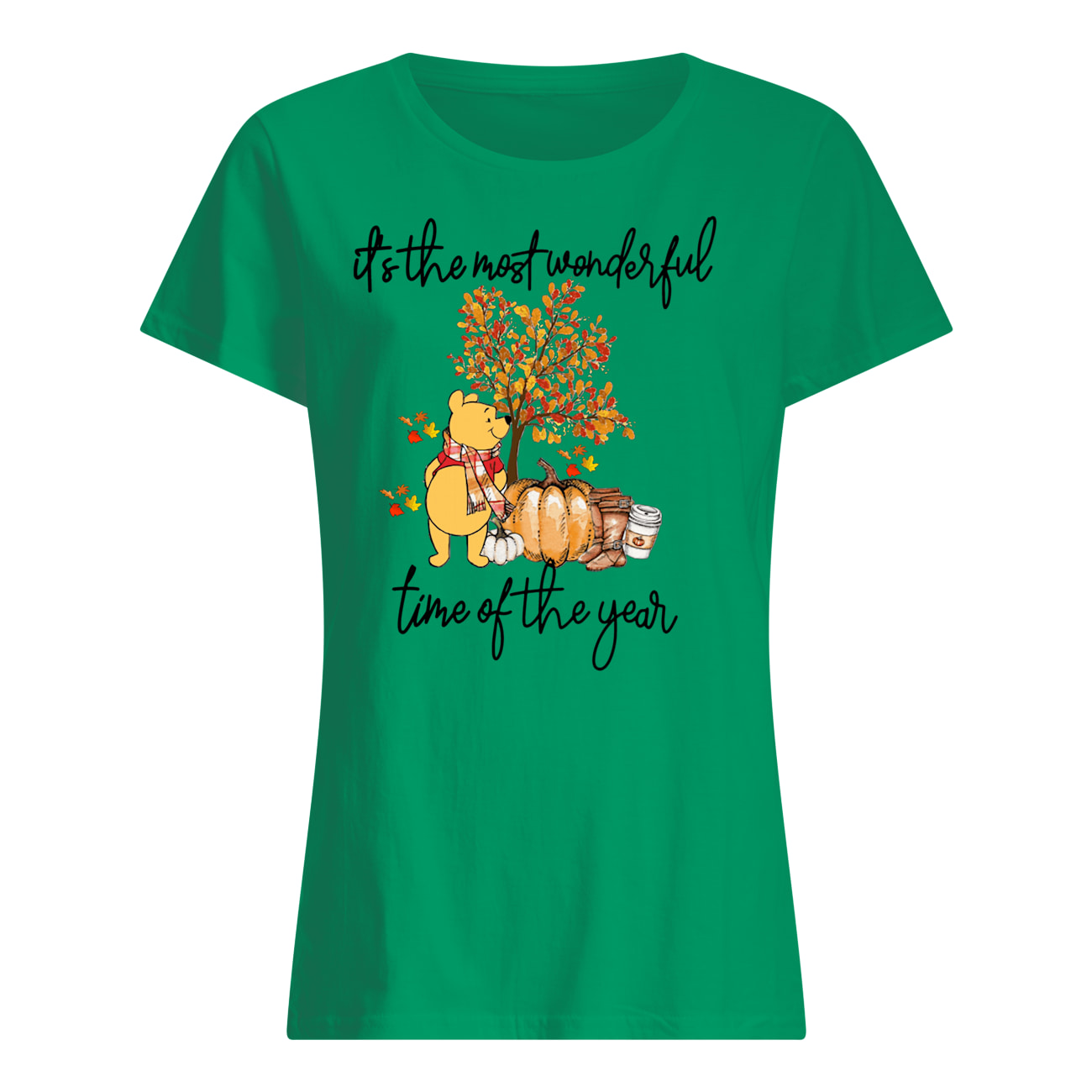 Pooh pumpkin it's the most wonderful time of the year womens shirt