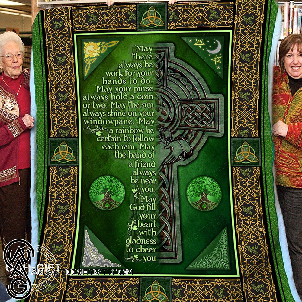 Religion an irish blessing blanket