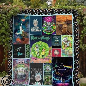 Rick and morty blanket