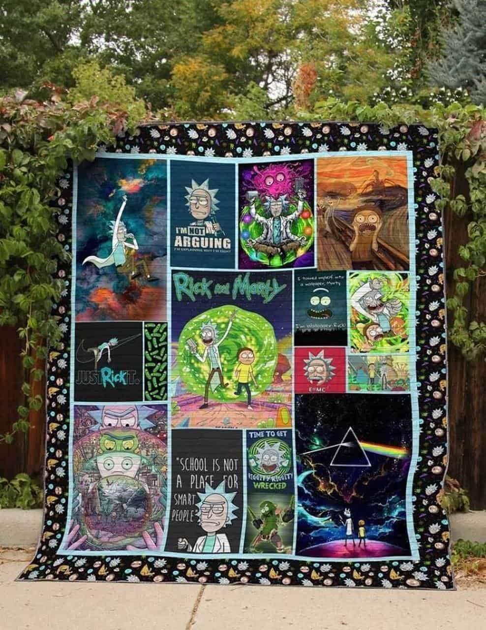 Rick and morty blanket - queen
