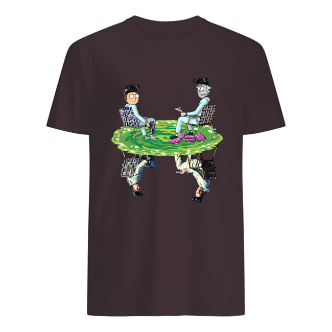 Rick and morty cosplay reflection walter white jesse pinkman breaking bad mens shirt