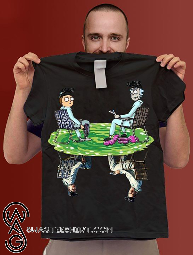 Rick and morty cosplay reflection walter white jesse pinkman breaking bad shirt - Copy (2)