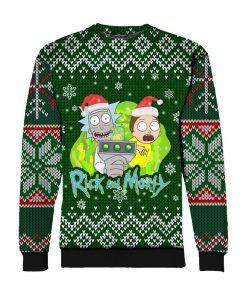 Rick and morty ugly christmas all over print SWEATSHIRT