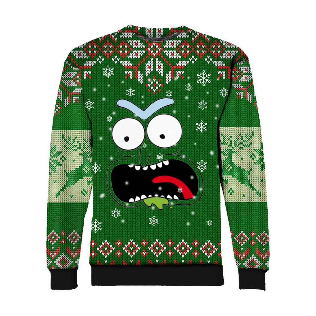 Rick face ugly christmas all over print SWEATSHIRT
