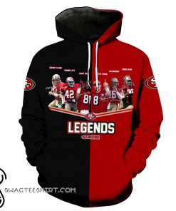 San francisco 49ers legends all over print hoodie