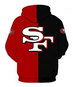 San francisco 49ers legends all over print hoodie - back