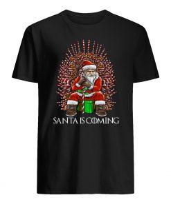 Santa is coming chirstmas mens shirt