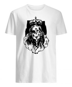 Skeleton queen horror halloween mens shirt