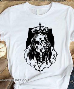 Skeleton queen horror halloween shirt